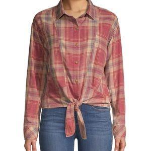 Brand New ✨ C&C California Tie Front Plaid Shirt